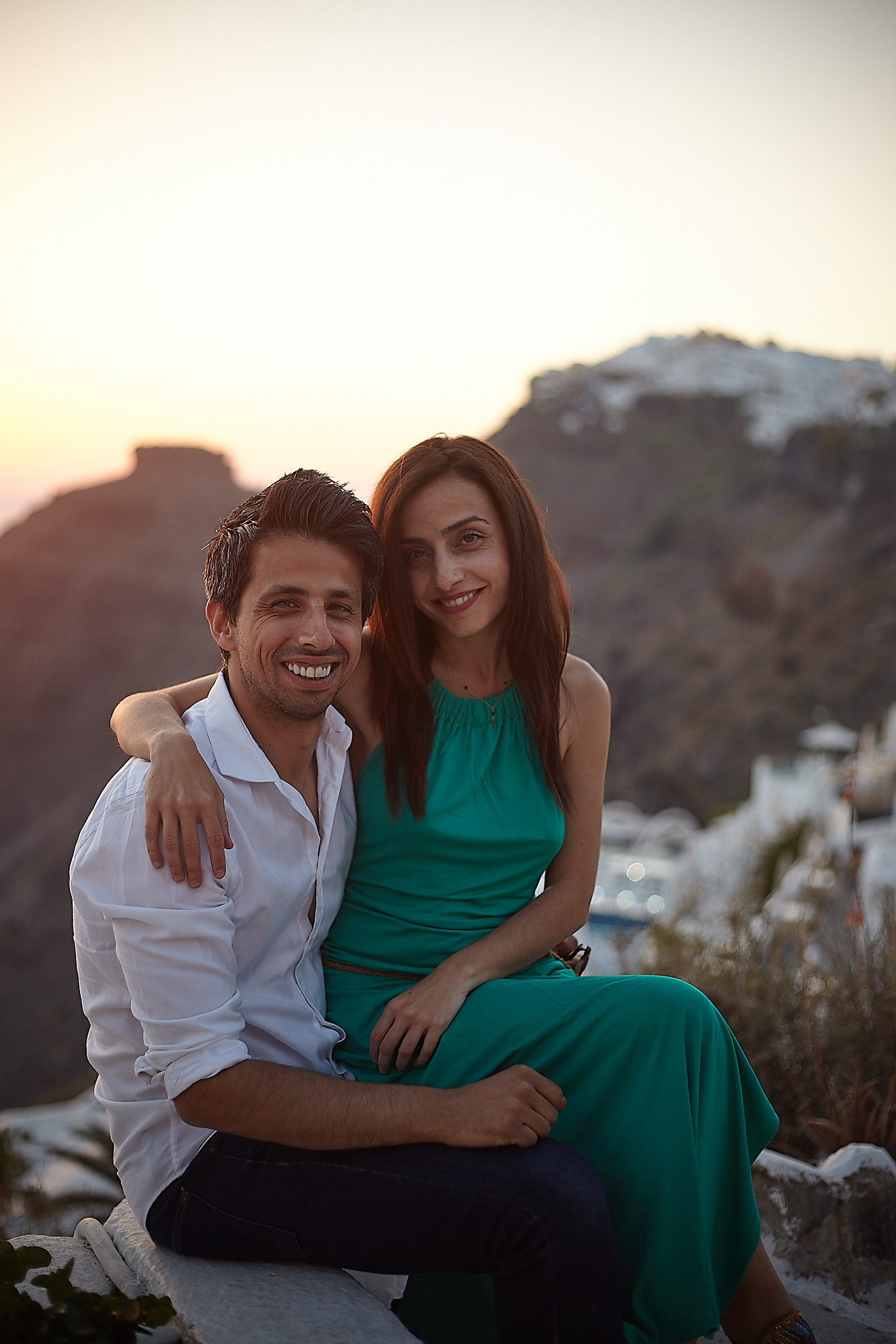 Pre Wedding Photo Shoot in Santorini Sunset