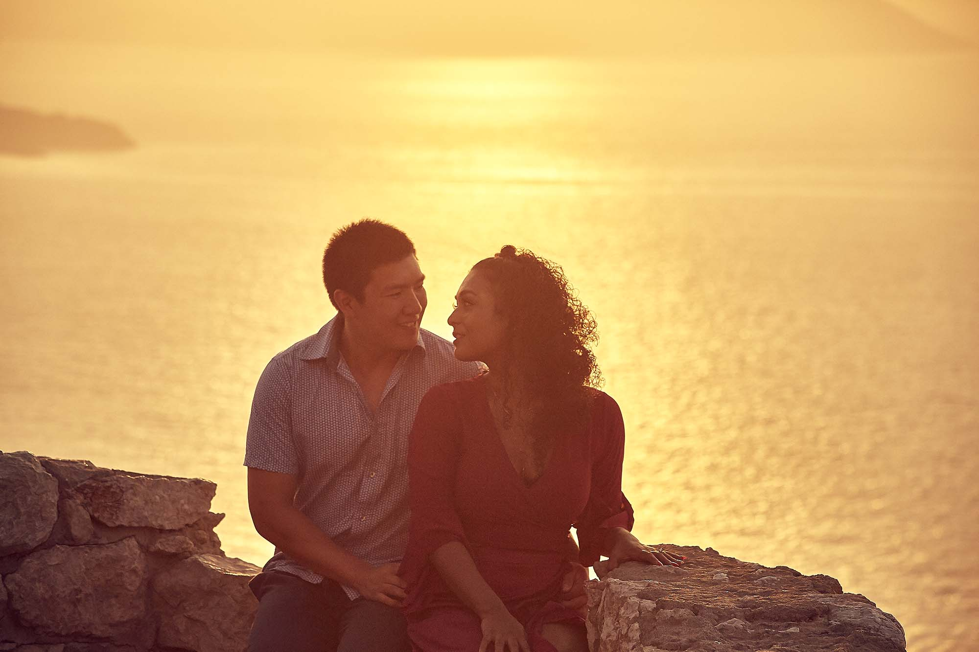 Marriage Proposal Photo Shoot in Rhodes Kritinia Castle Romantic Sunset Pre Wedding Photography Videography the Dreammakers Greece